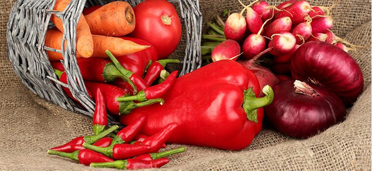 Turuncu ve Kırmızı Sebzeler